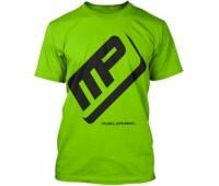 Футболка Musclepharm модель 3-2 зеленая (L, XL)