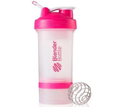 Shaker Blender Bottle ProStak 650 ml clear pink в Киеве