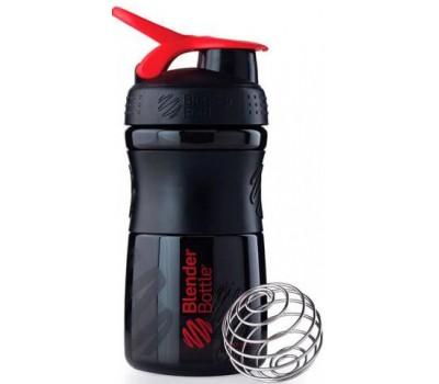 Blender Bottle SportMixer 591 ml mini black-red в Киеве