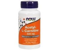 Acetyl-L-Carnitine 500 mg NOW 50 veg caps