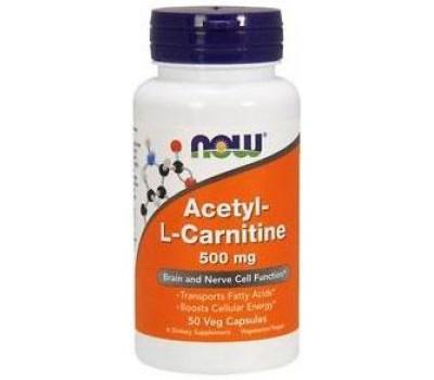 Acetyl-L-Carnitine 500 mg NOW 50 veg caps в Киеве