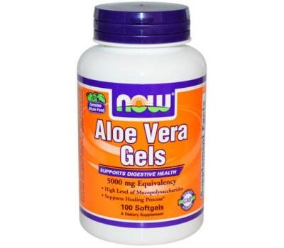 NOW Aloe Vera Gels 5000 mg 100 капсул в Киеве