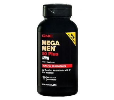 Витамины GNC Mega Men 50 Plus Mini 90 таблеток в Киеве