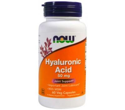 Hyaluronic Acid 50 mg NOW Foods 60 капсул в Киеве