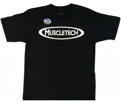 Мужская футболка MuscleTech черная в Киеве