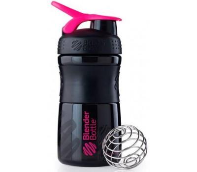 Blender Bottle SportMixer 591 ml mini black-pink в Киеве