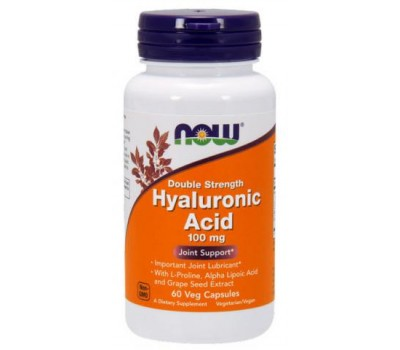 Hyaluronic Acid 100 mg NOW Foods 60 Veg Capsules в Киеве