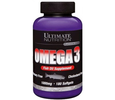 Omega-3 Ultimate Nutrition 1000 mg 180 softgels в Киеве