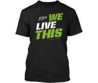 Футболка We Live This модель 8-1 черная (L, XL)