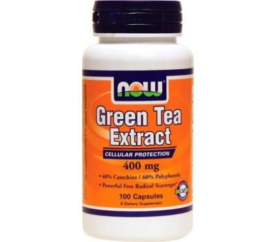 NOW Green Tea Extract 400 mg 100 капсул в Киеве