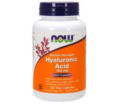 Hyaluronic Acid 100 mg NOW Foods 120 Veg Caps в Киеве