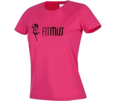 Женская футболка Fitmiss модель 1-3 розовая в Киеве