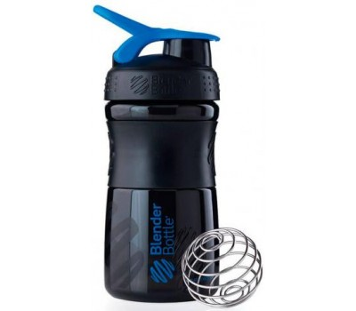 Blender Bottle SportMixer 591 ml mini black-blue в Киеве