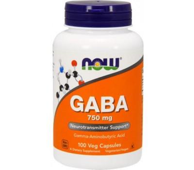 NOW GABA 750 мг 100 капсул в Киеве