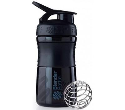 Blender Bottle SportMixer 591 ml mini black-black в Киеве