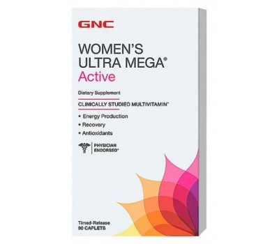 Витамины GNC Womens Ultra Mega Active 90 каплет в Киеве