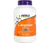 NOW Foods L-Arginine 500 mg 250 капсул