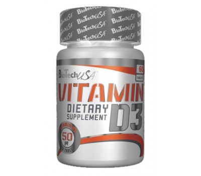 Vitamin D3 50 mcg BioTech USA 60 таблеток в Киеве