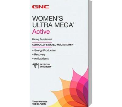 Витамины GNC Womens Ultra Mega Active 180 каплет в Киеве