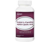 GNC Acetyl-L-Carnitine alpha-Lipoic Acid 60 капсул