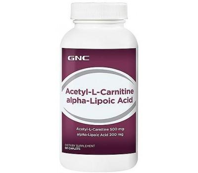 GNC Acetyl-L-Carnitine alpha-Lipoic Acid 60 капсул в Киеве