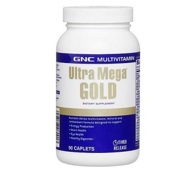 Витамины GNC Ultra Mega Gold Multivitamin 90 каплет в Киеве