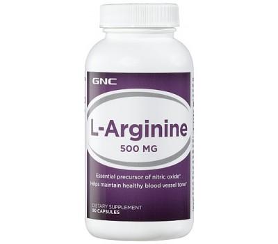 L-Arginine GNC 500 мг 90 капсул в Киеве