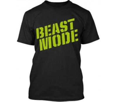 Футболка Beast Mode модель 5-1 черная (L, XL) в Киеве