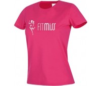 Женская футболка Fitmiss модель 1-2 розовая