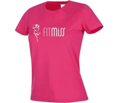 Женская футболка Fitmiss модель 1-2 розовая в Киеве