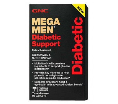 Витамины GNC Mega Men Diabetic Support 90 таблеток в Киеве