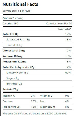 Quest-Bar-Oatmeal-Chocolate-Chip-supplement-facts