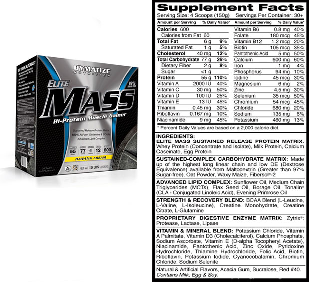 Elite Mass Gainer Dymatize Nutrition